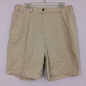 LL Bean Womens 16 Original Fit Khaki Shorts Chinos
